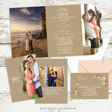 tri fold wedding invitations tri fold wedding invitation jeneze designs