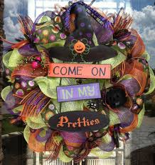 Halloween Geo Mesh Wreath Dainty Wreath At Craft Store With My Sisters Crazy Halloween