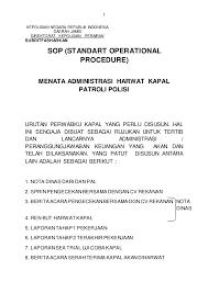 format berita acara kerusakan mesin sop menata administrasi harwat kapal patroli polisi subditfasharkan