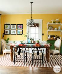 yellow dining room decorating ideas