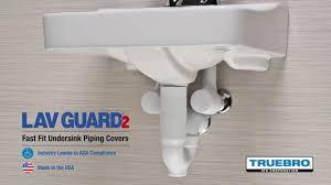 ada under sink pipe insulation lav guard2 installation by truebro youtube