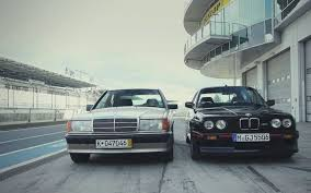 bmw e30 m3 mercedes benz 190e 2 3 16 clash on head 2 head