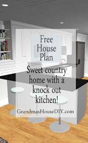 Floor Plans For Country Homes Free House Plan 1 200 Square Foot Country Home Grandmas House Diy