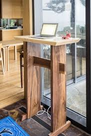 Lectern Desk Stand Up Desk Modern Wood Writing Desk Tall Desk For Standing