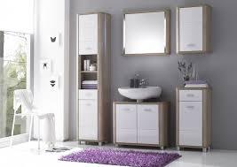 badezimmer set günstig badmöbel badezimmer i 5tlg set hochglanz weiss sonoma o