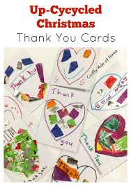 christmas thank you cards up cycled christmas thank you cards crafty kids at home