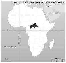 where is the republic on the world map central republic location map in africa black and white