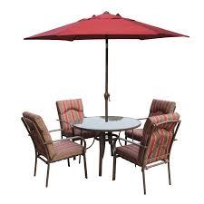 4 Seater Patio Furniture Set - amalfi 4 seater dining set with parasol u2013 the uk u0027s no 1 garden