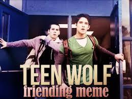 Teen Wolf Meme - teen wolf friending meme stiles chris fic idek fathomlessspite