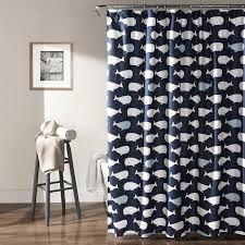 Lush Shower Curtains Lush Decor Whale Shower Curtain 72 X 72 Navy Home