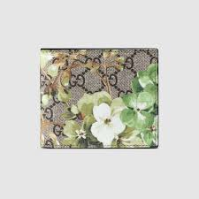 bloom wallet lyst gucci gg blooms wallet in green