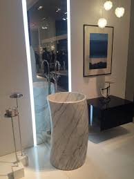 Contemporary Pedestals 14 Stone Sinks To Boost Your Bathroom Design
