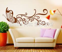 Beautiful Wall Stickers by Wall Art Ideas Design Brown Butterfly Beautiful Wall Art Sofa