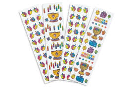 hanukkah stickers foil hanukkah stickers 140 pieces
