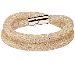 gold swarovski bracelet images Swarovski stardust deluxe bracelet white rose gold plated jpg