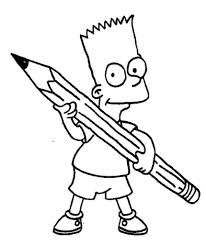 printable bart simpson coloring kids bart simpson
