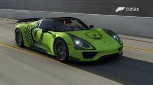 porsche 918 acid green salomondrin u0027s 918 spyder in forza motorsport 6 forza motorsport