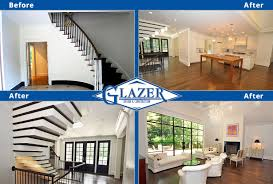 Before And After Living Rooms by Home Renovation Before And After Glazer Construction Atlanta