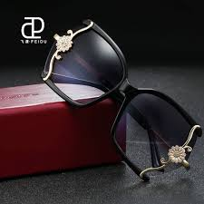 luxury high quality leopard frame butterfly sunglasses for