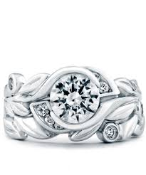 fusion wedding band fusion floral engagement ring schneider design