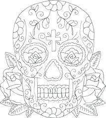 printable coloring pages sugar skulls sugar skull coloring pages skull printable coloring pages as well as