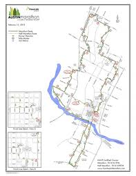 Map Of Austin Tx Austin Marathon Course Map Map Of Austin Marathon Course Texas