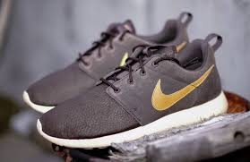 Gray And Gold Nike Roshe Run Suede In Velvet Brown And Gold Sole Collector