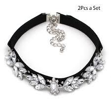 velvet collar necklace images 2pcs set gothic retro charm crystal velvet choker collar necklace jpg