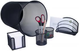 ensemble de bureau set de bureau office en fil métallique noir ensemble de
