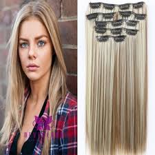 owigs hair extensions 24 60cm thick clip in hair extensions mix brown