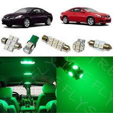 2008 Nissan Altima Coupe Interior 8x Green Led Lights Interior Package Kit For 2008 2013 Nissan