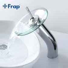 Bathroom Waterfall Faucet Astounding Bathroom Waterfall Faucet Buy Brass Circle Glass Basin