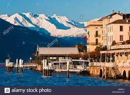 winter view of bellagio lake como lombardy italy stock photo
