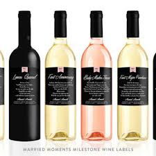 wine wedding gift married milestones wine labels from labelwithlove on etsy