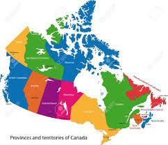 Map Alberta Canada by Colorful Canada Map With Provinces And Capital Cities Royalty Free