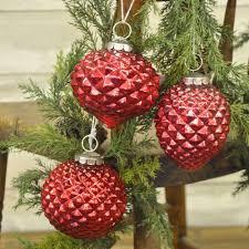 antiqued mercury ornaments set 6 piper classics