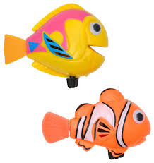 Kids Bathroom Accessories by 2 Piece Set Funny Wind Up Swimmers Clown Fish Bathtub Baby Toy