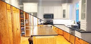 armoire en coin cuisine comment peinturer des armoires de façon durable colobar