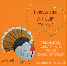 dirty thanksgiving pics morean arts center thanksgiving break art camp for kids