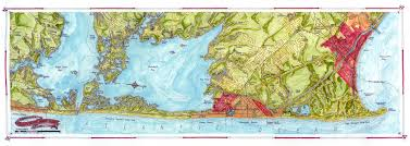 Forgotten Shore Map Coastal Art Maps