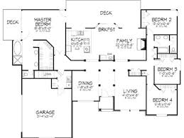 floor plans for a 4 bedroom house 4 bedroom bungalow floor plan bungalow santa
