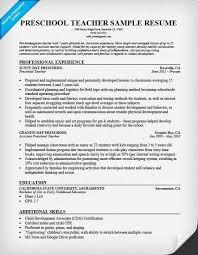 preschool resume template preschool resume sle writing tips resume companion for