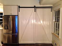 Frosted Glass Sliding Barn Door by Exterior Barn Door Hardware Bypass Side Mount In Black Bypassing