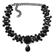 black bead collar necklace images Luxury collar necklace pendant galvation jpg