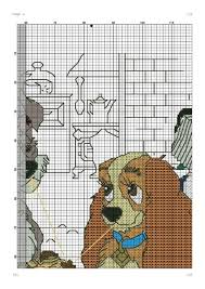 45 disney lady tramp cross stitch images
