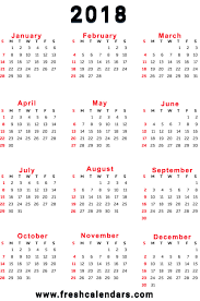 printable calendar year on one page printable 2018 calendar templates and images