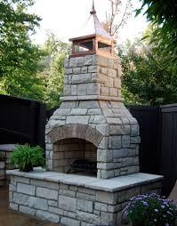 outdoor stone fireplace kits ontario home design ideas