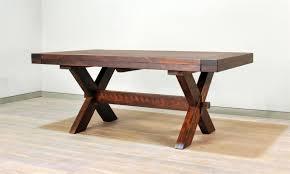 Sawn Buxton X Leg Dining Table