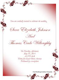 Marriage Invitation Sample Microsoft Invitation Templates Free Downloads