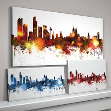 Liverpool Wall Stickers Liverpool Skyline Cityscape By Artpause Notonthehighstreet Com
